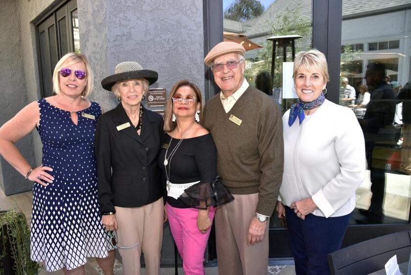 Casa de Amparo board members Debbie Slattery, Sharon Stein, Marilou Dela Rosa, Jerry Stein, Mary Ann Bosanac