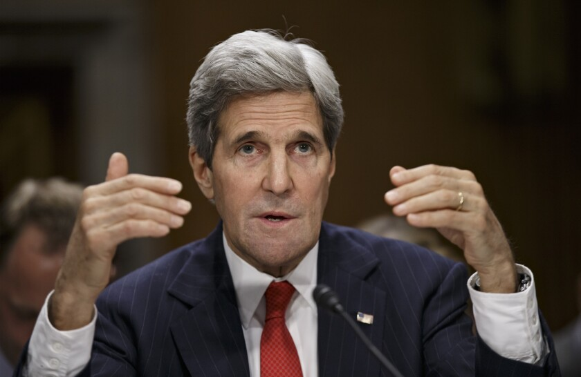 Secretary of State John F. Kerry appears before the Senate Foreign Relations Committee to discuss his budget and the status of diplomatic hot spots.