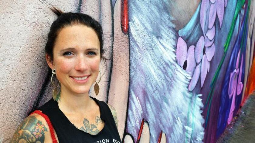 Amandalynn, a San Francisco artist has a solo show in Escondido.