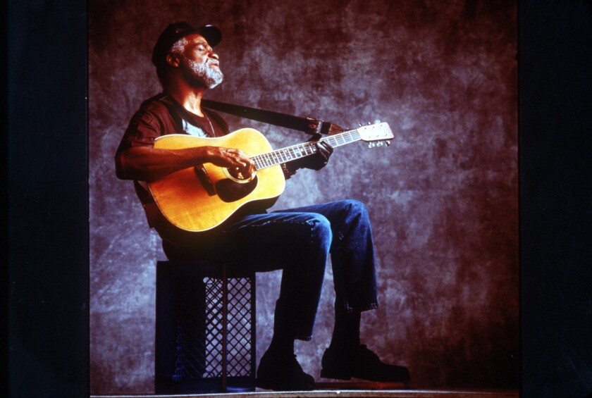 A 1995 file photo of singer and songwriter Ted Hawkins.