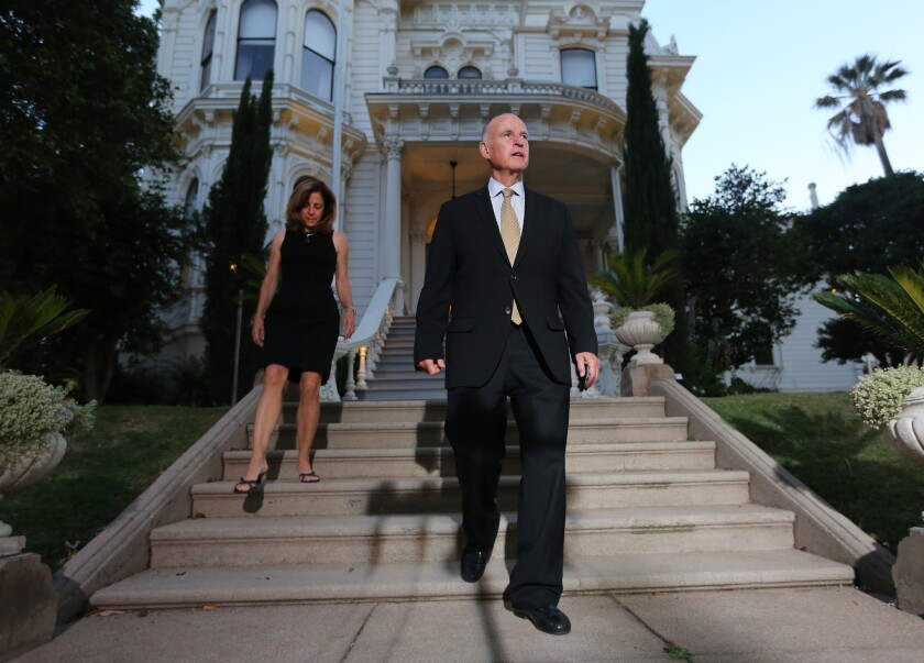 Gov. Jerry Brown and Anne Gust Brown