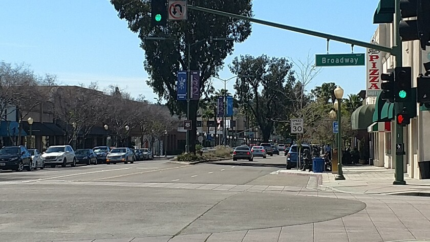 Grand Avenue in Escondido is at the center of the city's downtown district.
