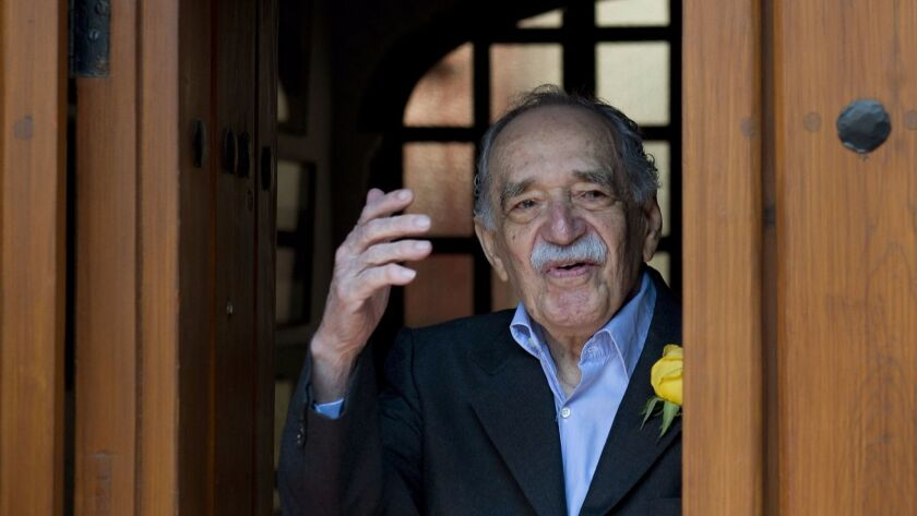 Gabriel Garcia Marquez on his 87th birthday, in Mexico City in 2014.