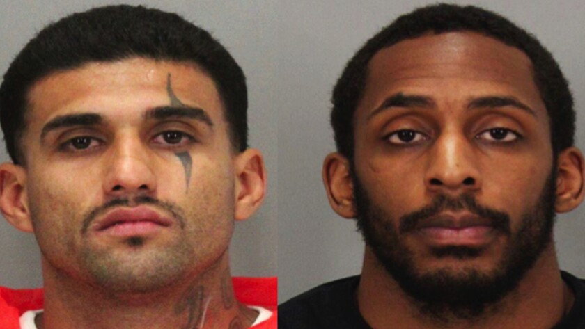 Rogelio Chavez, left, and Laron Campbell escaped from a San Jose jail last week.