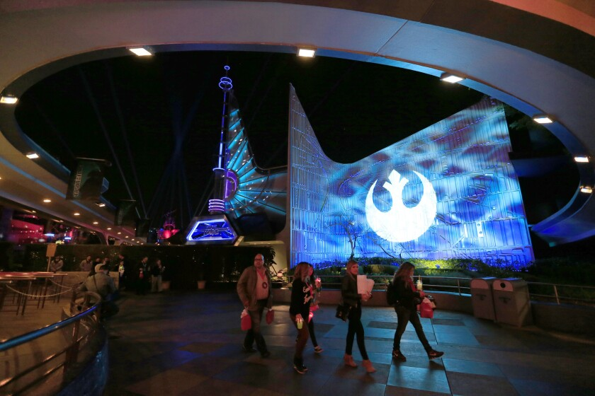 "Tomorrowland area has been transformed to celebrate ""Star Wars."""