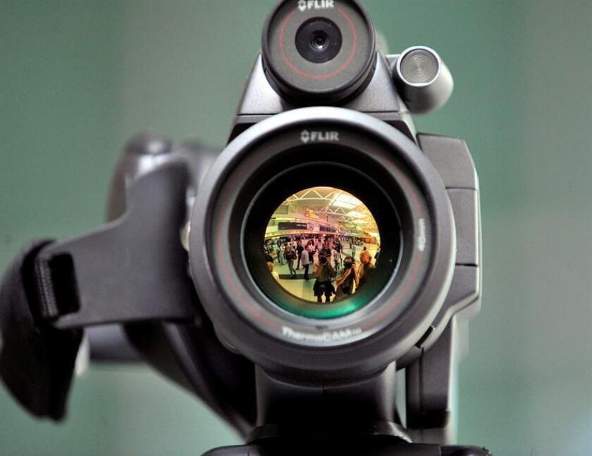 Vista de una cámara de seguridad. EFE/Archivo