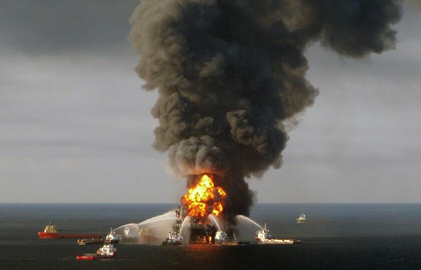 The 2010 Deepwater Horizon disaster.