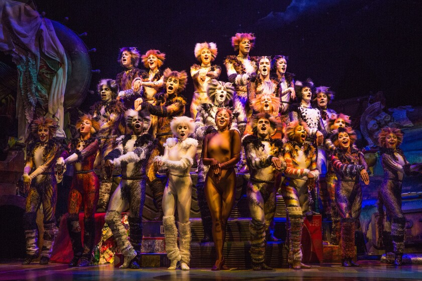 "The national tour of the hit musical ""Cats"" is on stage at the Hollywood Pantages Theatre."