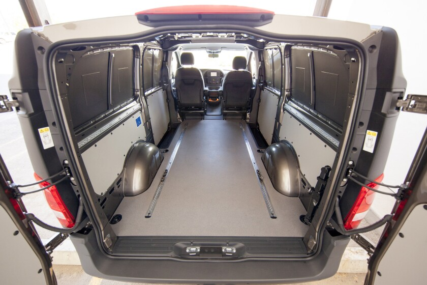 The 2016 Mercedes-Benz Metris Cargo Van gives up passenger seats and gains enormous carrying capacity