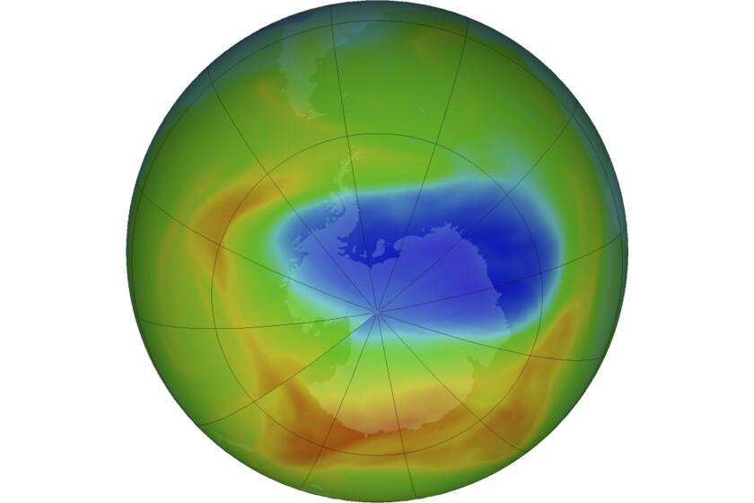 Ozone hole over South Pole