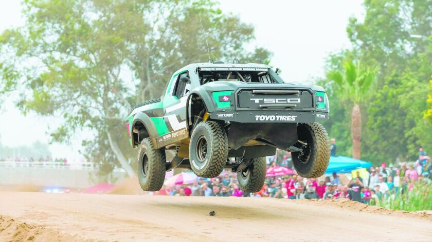 Caption: 2017 SCORE Baja 500 winner Andy McMillin