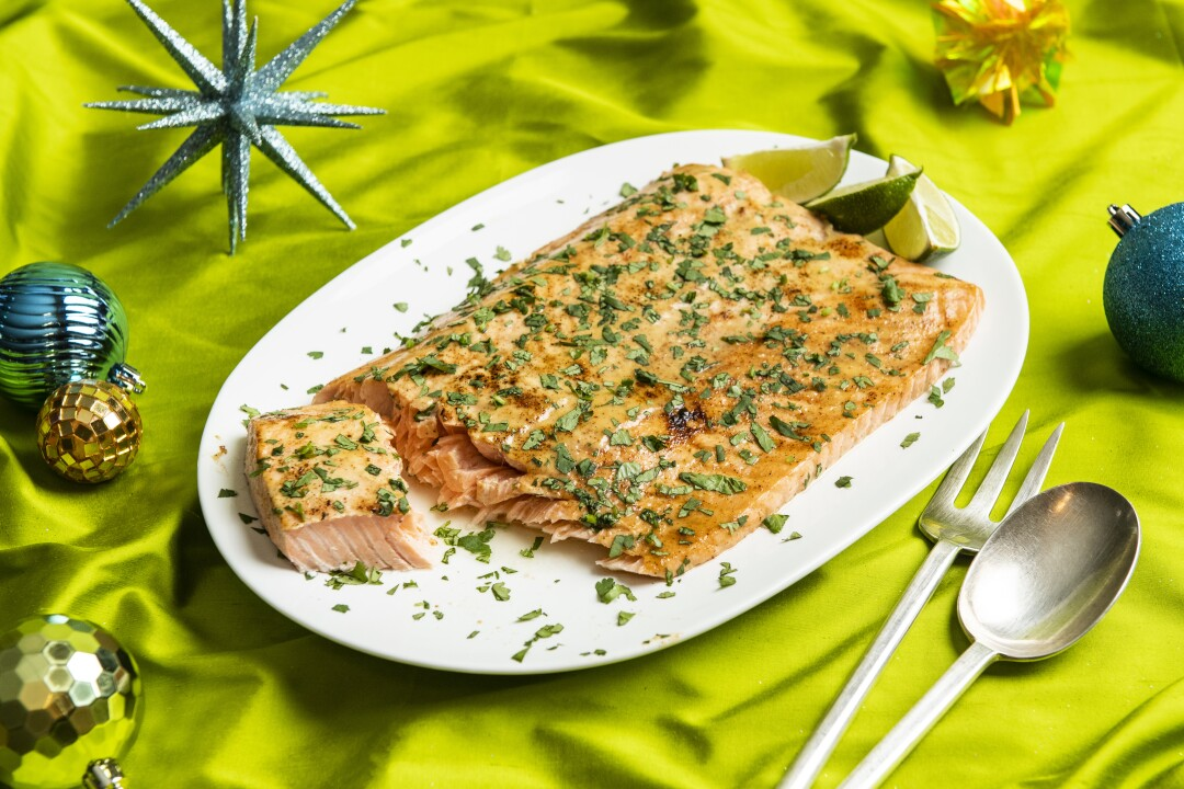 Mayonnaise-Roasted Side of Salmon