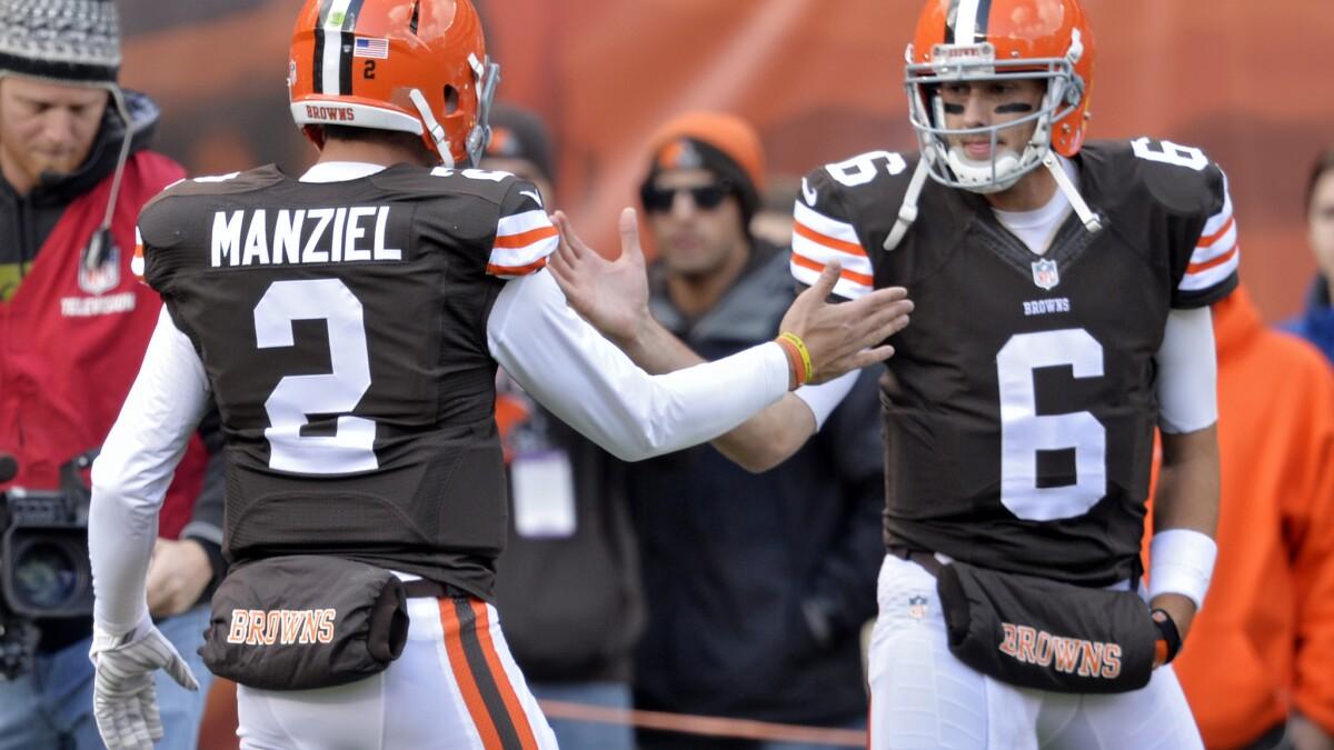 online store b8114 50b53 Brian Hoyer keeps Browns starting QB job over Johnny Manziel ...
