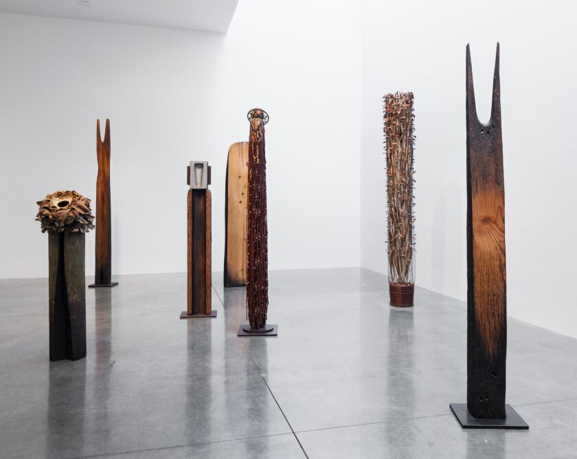 """""""Spiritual Material,"""" an exhibition of work by Kenzi Shiokava, features about 50 of the artist's works at Ben Maltz Gallery at Otis College of Art and Design."""