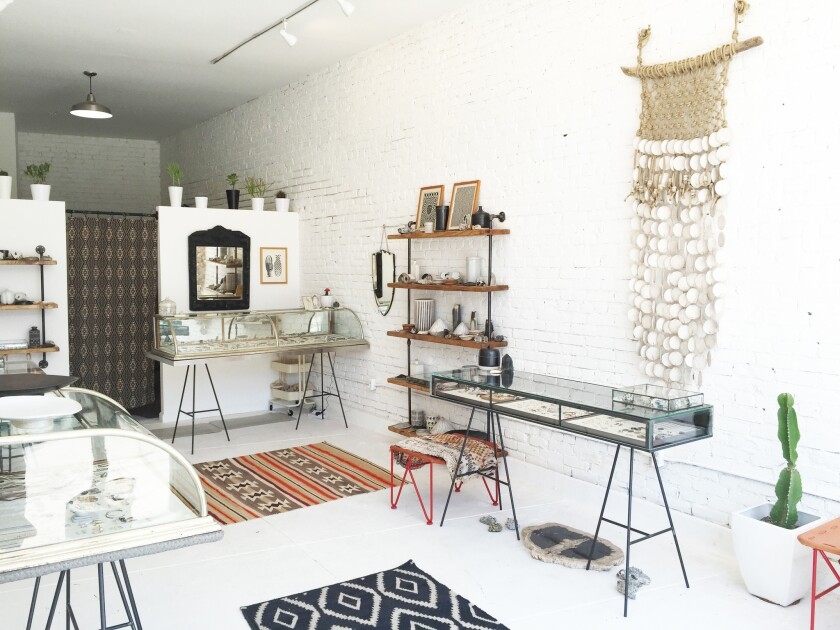 The new Esqueleto showroom features jewelry, ceramics and housewares in a tiny sunlit showroom in Echo Park.
