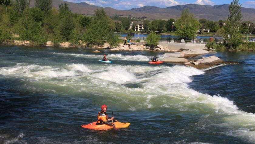 Boise boasts a picturesque 25-mile Green Belt, one of the city's most beloved parks whose shores s