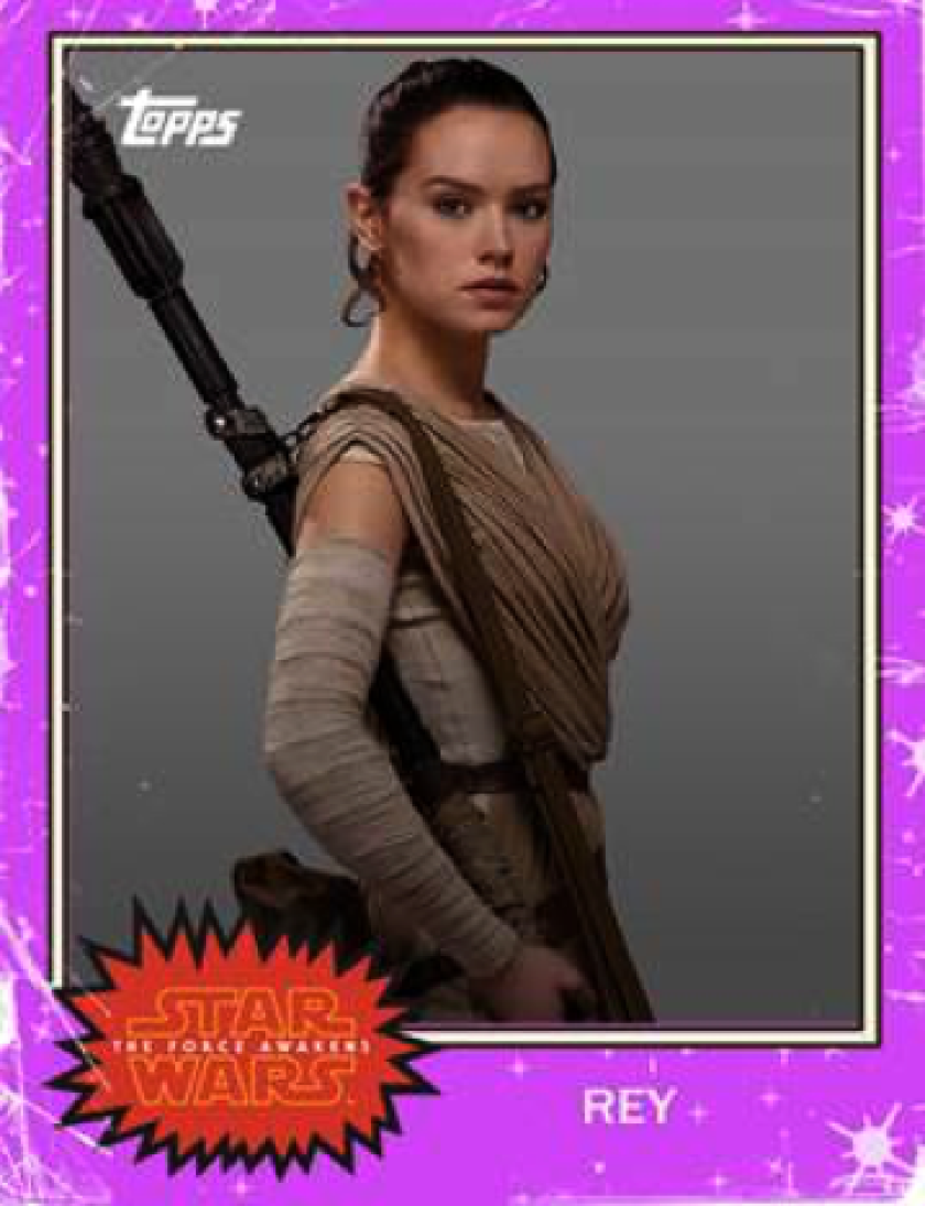 """This digital card of Rey from the """"Star Wars: The Force Awakens"""" recently sold for $1,000 on eBay."""