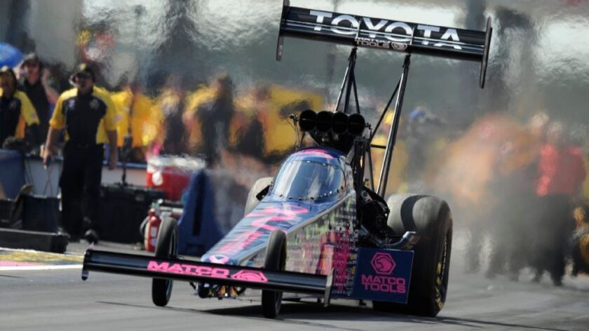 Top-fuel driver Antron Brown dominates in Friday qualiying at NHRA Finals
