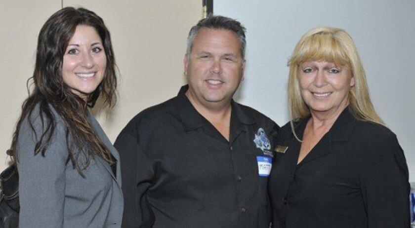 Kimberly Duggan of H G Fenton Company, Matt Clay from the SD Sheriff's Department, Executive Director Frida Silveira (Photo: Rob McKenzie)
