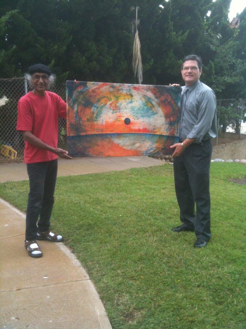 Mohan Sundaresan and John Bolthouse (right). Will Bowen