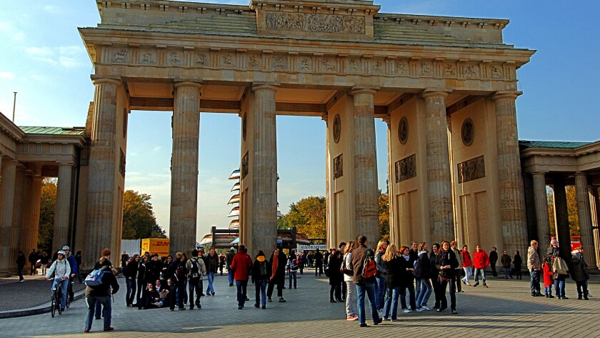 Germany, the world's fourth-largest economy, provides all of its 80 million citizens with extensive public benefits. Above, the Brandenburg Gate in Berlin is seen in 2013.