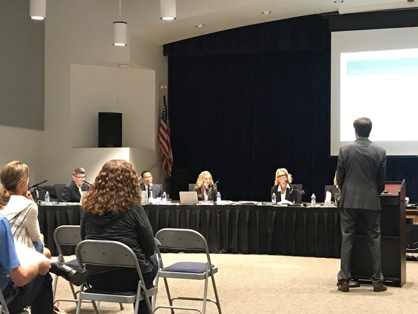The DMUSD board met in person on June 30 at Ocean Air School