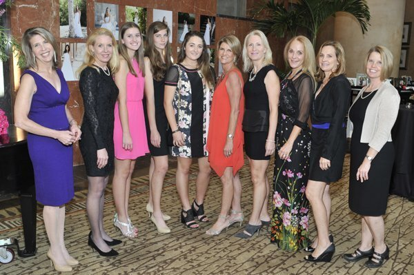 NCL welcoming committee members: Susan Trompeter, Molly Oitzman, Gabriella Patino, Ava Claxton, Chloe Winkler, co-chair Sarah King, Nadia Patino, Linda Winkler, Tricia Hinkle, Kaley McHale