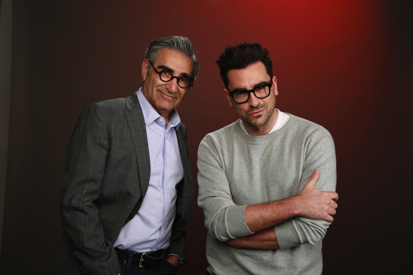 Father and son, Eugene and Dan Levy