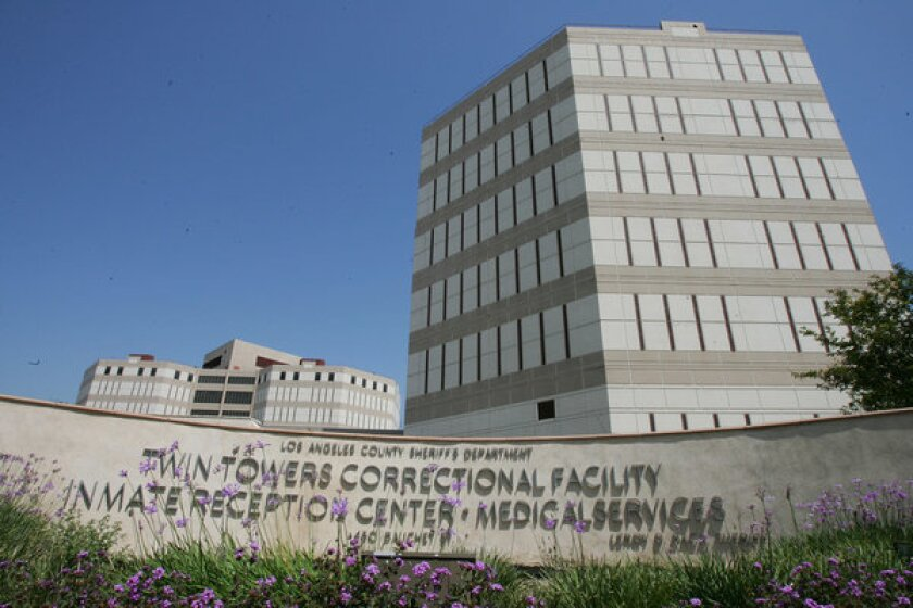 The Los Angeles County Twin Towers Correctional Facility.