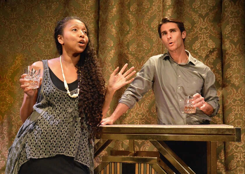 """Leilani Smith and Ty Mayberry in """"Last Swallows"""" at the Other Space @ The Actors Company."""