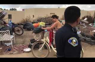 Homeless evicted from encampment along Santa Ana River trail