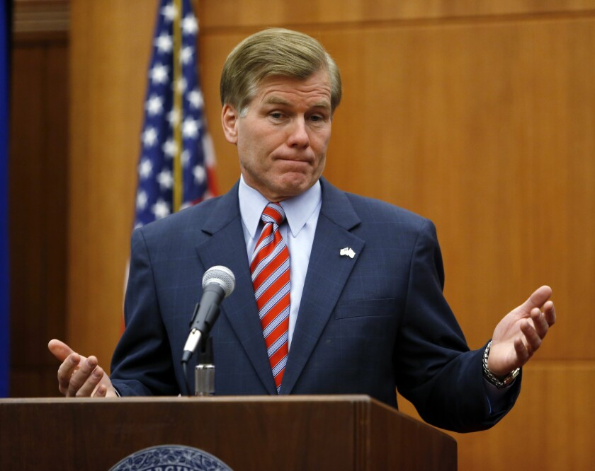 Virginia Gov. Bob McDonnell, seen earlier this month, is among a number of Republican governors looking for more time in implementing part of President Obama's healthcare reform.