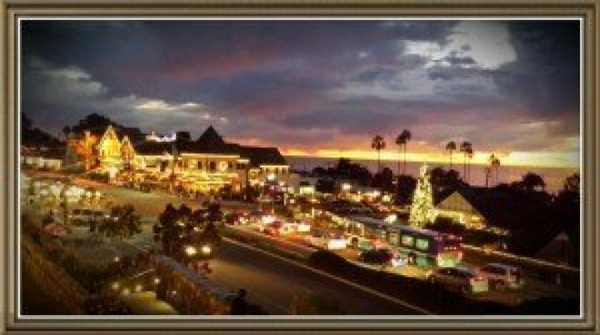 The Del Mar VIllage during the holiday season. Photo courtesy of Albert Fitzgerald Visions Research, Del Mar, California