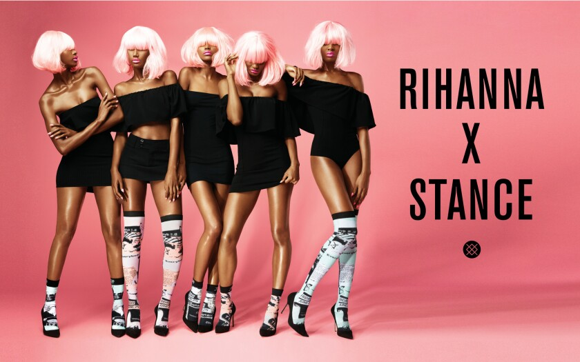 An image from the first Stance ad campaign directed by singer Rihanna, who was tapped as the sock company's contributing creative director earlier this year.
