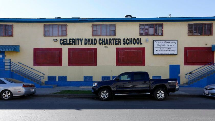 In addition to using portable classrooms, Celerity Dyad also occupies a nearby building.