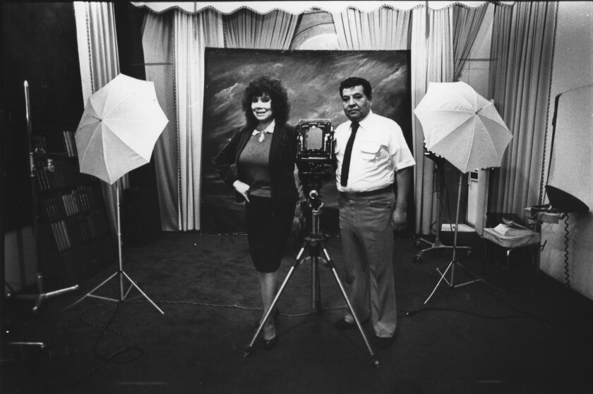 Irene Calvillo and Richard Veloz, portrait photographers in Boyle Heights.