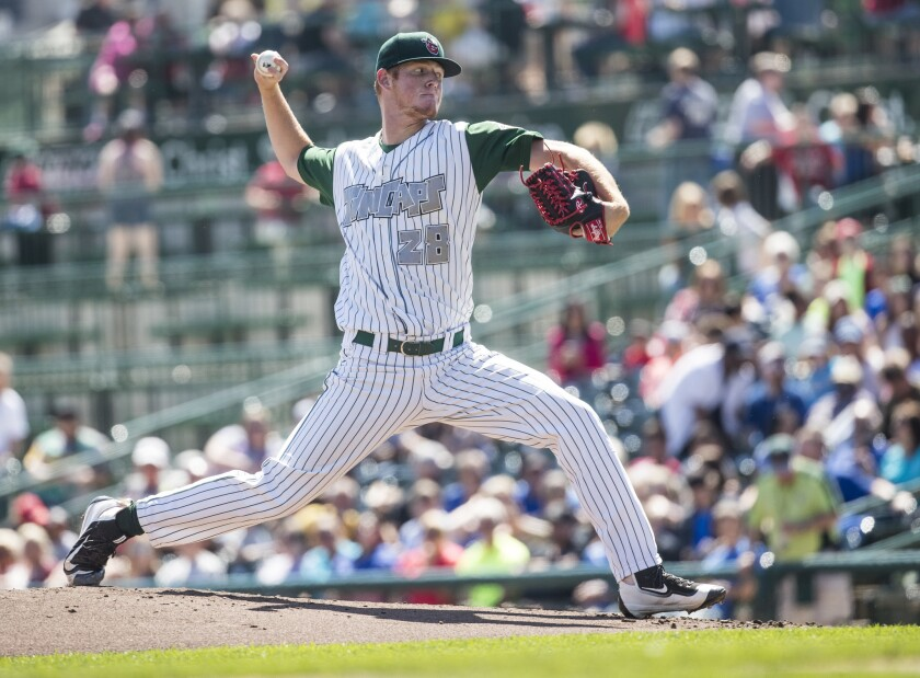 Padres pitching prospect Mason Thompson started the 2017 season at low Single-A Fort Wayne.