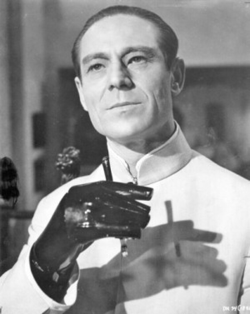 "Joseph Wiseman played the sinister title character in ""Dr. No,"" the 1962 film that introduced Sean Connery as 007. ""He was horrified in later life because that's what he was remembered for,"" his daughter said. ""Stage acting was what he wanted to be remembered for."""