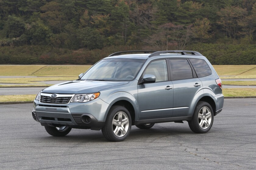 2010 Forester is one of several models affected by a Subaru recall of 660,000 vehicles.