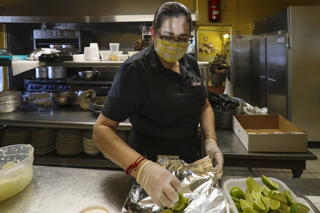 Patty Martinez, who has worked at Mitla Cafe for 33 years, called Lucy Reyes her best friend.