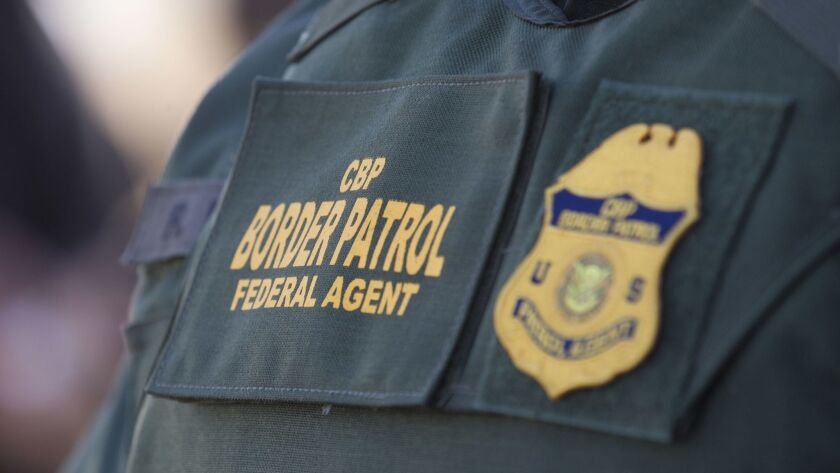SAN DIEGO CA.- Oct. 26, 2017, CBP Border Patrol iconic image. of border patrol patch, PHOTO/JOHN GIBBINS, Staff photographer, San Diego Union-Tribune) copyright 2017