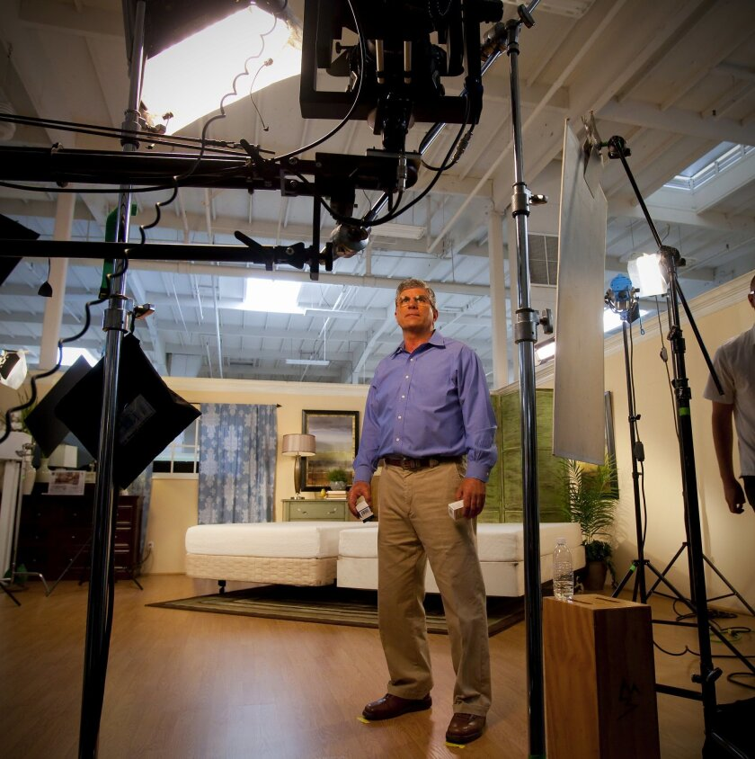 Jerry Navarra, at a recent commercial shoot for an upcoming television commercial ad for Jerome's.