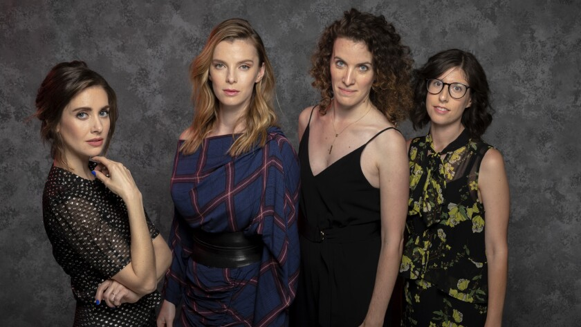 "LOS ANGELES, CA - MAY 29, 2018 - Lt to Rt: Netflix original series ""Glow"" stars Alison Brie and Bett"
