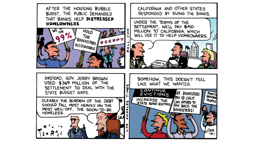 On Gov. Jerry Brown diverting hundreds of millions of dollars paid by big banks in a mortgage settlement.