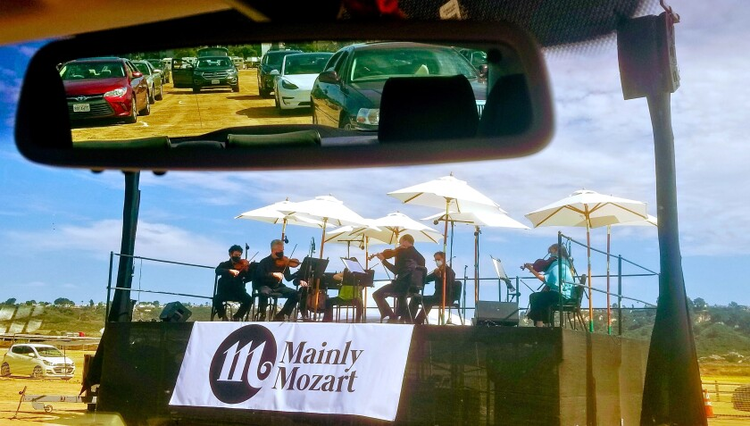 San Diego's Mainly Mozart became the first classical music organization in the nation to produce a drive-in concert.
