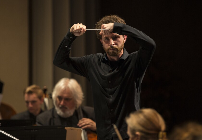 Matthew Aucoin conducts Los Angeles Chamber Orchestra