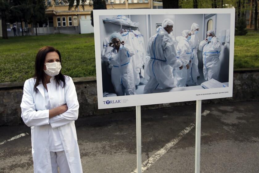 Public health worker in Serbia