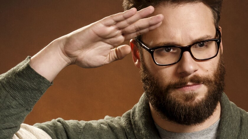 "Actor Seth Rogen, photographed at the SLS Hotel in Beverly Hills in November, is in the new comedy movie ""The Interview."""