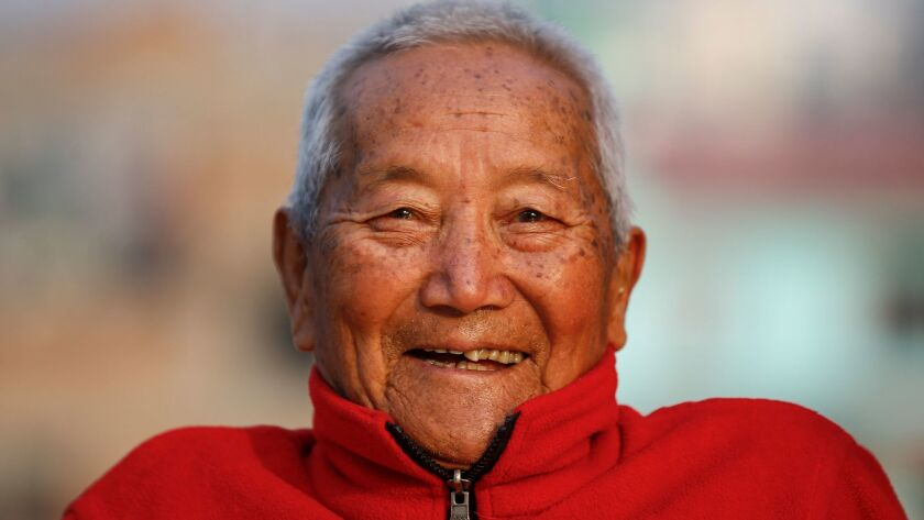 Nepalese mountaineer Min Bahadur Sherchan