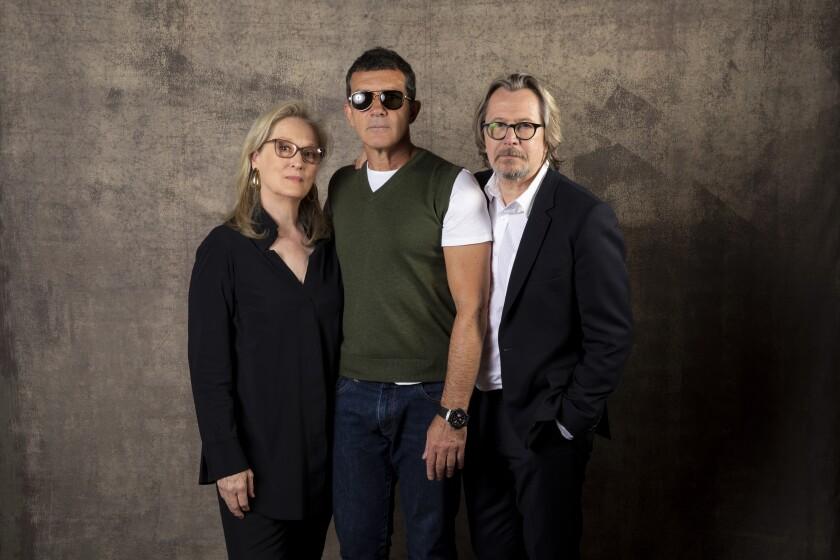 Meryl Streep, from left, Antonio Banderas and Gary Oldman